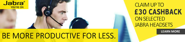 £35 Cashback on selected Jabra headsets