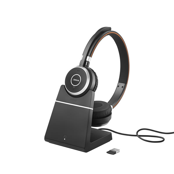 Jabra Evolve 75 Ms Duo Wireless Bluetooth Headset: Jabra Evolve 65 Bluetooth UC Stereo With Stand Only £116