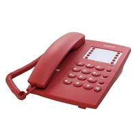 Agent 1000 Analogue Telephone - Red