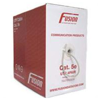 Fusion Coloured Cat 5E Pvc Cable 305M - Red