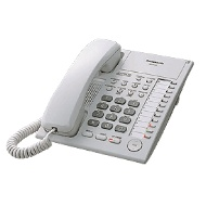 Panasonic KX-T7720 12 Key Analogue Telephone - White