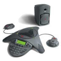 Polycom SoundStation VTX 1000 with Subwoofer and Microphones