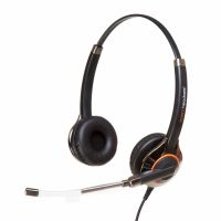 Agent 650 Plus Binaural Voice Tube Headset with Free Bottom Cord