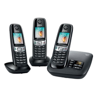 Gigaset C620A DECT Telephone With Answering Machine - Trio