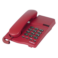 Interquartz 9330 Gemini Basic Telephone - Red