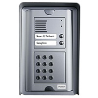 Kalika Ulydor SK-S Two Button Door Entry Phone with Keypad - Surface Mount + Hood