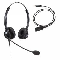 Unbranded Entry Level Double Ear Noise Cancelling Call Centre Headset With 3.5mm