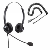Unbranded Entry Level Double Ear Noise Cancelling Call Centre Headset With U10P