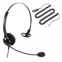 Unbranded Entry Level Single Ear Noise Cancelling Call Centre Headset With HIS
