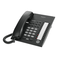 Panasonic KX-T7750 12 Key Analogue Telephone - Black